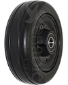 6 x 2 in. Invacare Wheelchair Replacement Caster Wheel with Offset Bearings in Black - angled view shown