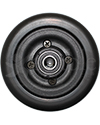 "6 x 2 in. Invacare Wheelchair Replacement Caster Wheel with Offset Bearings in Black - Side shown with larger 5/8"" bearings"