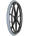 24 in. (540) 7 Spoke Wheelchair Mag Wheel with 2.25 in. Hub & Tire - Angled view shown with pneumatic tire