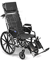 Invacare® Tracer SX5® Recliner Wheelchair - Angled view shown
