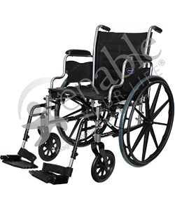 Invacare® Tracer EX2® Deluxe Wheelchair - Angled view shown