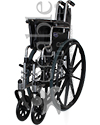 Invacare® Tracer EX2® Deluxe Wheelchair - folded view shown