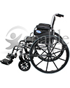 Invacare® Tracer EX2® Deluxe Wheelchair - Side view shown