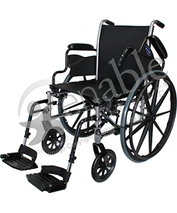 Invacare® Tracer SX5® Deluxe Wheelchair - Angled view shown