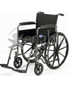 Invacare® Veranda® Standard Wheelchair with Fixed Armrests