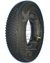 14 x 3 in. (3.00-8) Kenda K372 Turf Wheelchair Tire - Non marring black shown