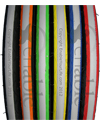 24 x 1 in. (23-540) Kenda Konstrictor Sports Wheelchair Tire - Available in six different edge colors all with black sidewalls