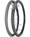 24 x 1 3/8 in. (37-540) Kenda Kwick Trax Wheelchair Tire w/Iron Cap - Angled view of both colors shown