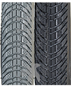 24 x 1 3/8 in. (37-540) Kenda Kwick Trax Wheelchair Tire w/Iron Cap - Close of view of tread pattern shown