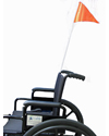 Collapsible Wheelchair or Scooter Safety Flag