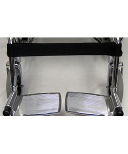 Wheelchair Single Leg Strap with Velcro Fastener - Installed