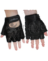 Hatch Leather Wheelchair Push Gloves with Half Finger Design