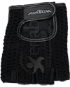 Hatch Leather Wheelchair Push Gloves with Half Finger Design - Mesh back shown
