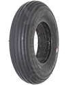 8 x 2 in. (200 x 50) Primo Spirit Foam Filled Wheelchair/Scooter Tire - Angled view of black tire shown