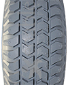 10 x 3 in. (3.00-4) Primo Power Trax Heavy Duty Foam Filled Tire - Tread pattern close-up