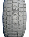 9 x 3.50-4 Primo Grande Foam Filled Wheelchair / Scooter Tire - Tread pattern close-up
