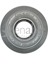 4.10 x 3.50-4 Sawtooth Foam Filled Wheelchair / Scooter Tire - front view shown