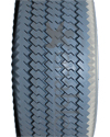 4.10 x 3.50-4 Sawtooth Foam Filled Wheelchair / Scooter Tire - Tread pattern close-up