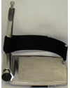 "Wheelchair Footplate Heel Loops - 11"" model shown mounted to footplate"