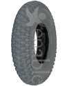 8 x 2 in. (200 x 50) Knobby Wheelchair / Scooter Tire - Angled view shown