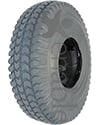 10 x 3 in. (3.00-4) Primo Powertrax Wheelchair / Scooter Tire - Shown in non marking gray