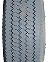 4.10 x 350-4 Power Edge Sawtooth Wheelchair / Scooter Tire - Tread pattern close-up
