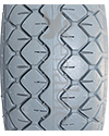 4.00-5 Primo / CST Diamond Foam Filled Wheelchair/Scooter Tire - Tread pattern close-up shown