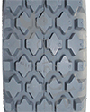 4.10 x 3.50-5 Foam Filled Knobby Wheelchair / Scooter Tire - Tread pattern close-up