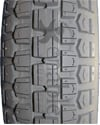 4.00-8 Knobby Foam Filled Wheelchair Tire - Tread pattern close-up