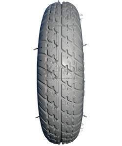 8 x 2 in. (200 x 50) Primo Durotrap Foam Filled Wheelchair/Scooter Tire - Tread close-up shown