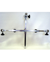 Adjustable Headrest Bracket - Swivel Mount Chrome Plated