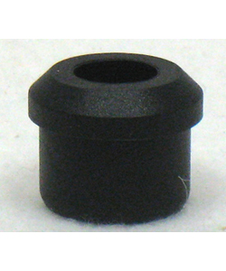 Black Rubber Bumper Plug - Fits E&J 7/8 in. Tube Foot Rests
