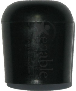 Black Tube End Cap for 7/8 in. Tubing