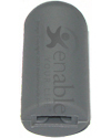E&J Flat Type Wheel Lock Handle Tip - 1/2 in. Gray - angled view showing opening