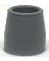 Gray Crutch / Utility Tip - Fits 1 1/8 in. Tube