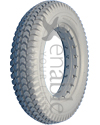 3.00-8 (14 x 3 in.) Knobby Urethane Wheelchair Tire - Showing the 1 5/8 in. bead width model