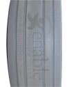 6 x 2 in. (150 x-50) 4 Rib Aero-Flex™ Urethane Wheelchair Tire - Tread pattern close-up