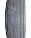 7 x 2 in. (180 x 50) Multi-Rib Urethane Wheelchair Tire - Tread pattern close-up