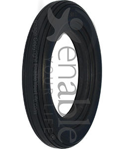 8 x 1 1/4 in. (200 x 32) Multi Rib Aero-Flex™ Urethane Wheelchair Tire
