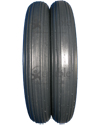 8 x 1 1/4 in. (200 x 32) Multi Rib Aero-Flex™ Urethane Wheelchair Tire - Tread pattern close-up