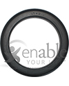 8 x 1 in. (200 x 25) Urethane Round Wheelchair Tire - Side view shown