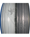 8 x 2 in. (200 x 50) Multi Rib Urethane Wheelchair Tire - Tread pattern close-up