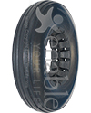 8 x 2 in. (200 x 50) Multi Rib Urethane Wheelchair Tire - Shown in Dk Gray