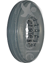8 x 2 in. (200 x 50) Multi Rib Urethane Wheelchair Tire - Shown in Lt. Gray