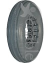 8 x 2 in. (200 x 50) Multi Rib Urethane Wheelchair Tire - Lt gray tire shown