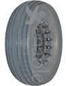 8 x 2 1/4 in. Multi Rib Urethane Wheelchair Tire