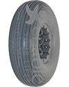 210-65 Multi Rib Urethane Permobil Replacement Wheelchair Tire