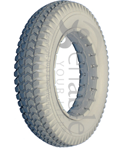 3.00-8 (14 x 3 in.) Knobby Urethane Wheelchair Tire - Showing the 2 in. bead width model