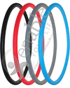 24 x 1 in. (25-540) Primo Sentinel Urethane Wheelchair Tire - Angled view shown with all of the available colors