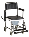 Nova Drop-Arm Transport Chair Commode